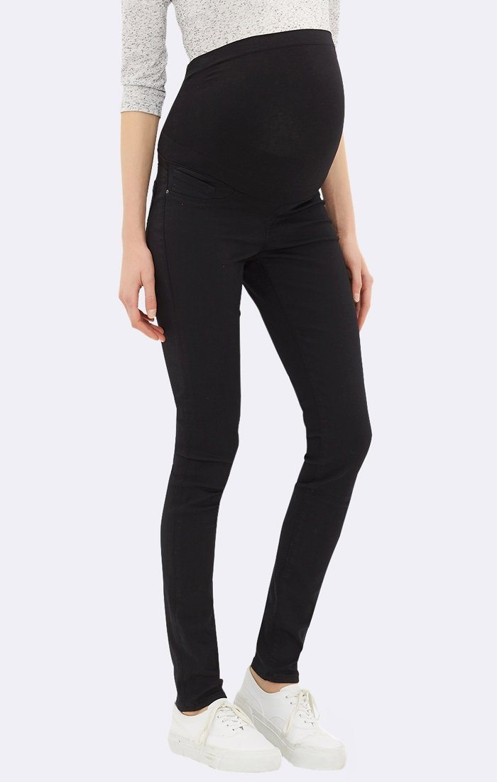 VANESSA SKINNY MATERNITY IN DOUBLE BLACK - Mavi Jeans