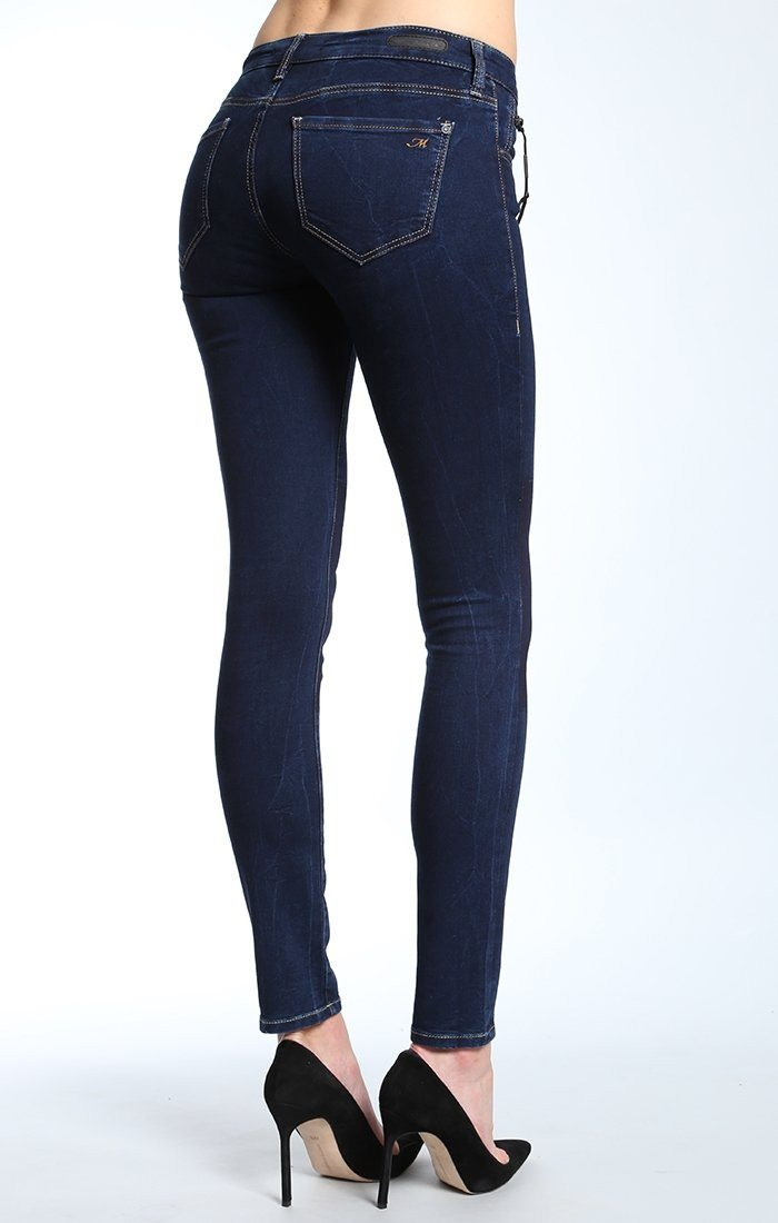 SERENA SUPER SKINNY IN INDIGO PATCH-OUT JEGGING - Mavi Jeans