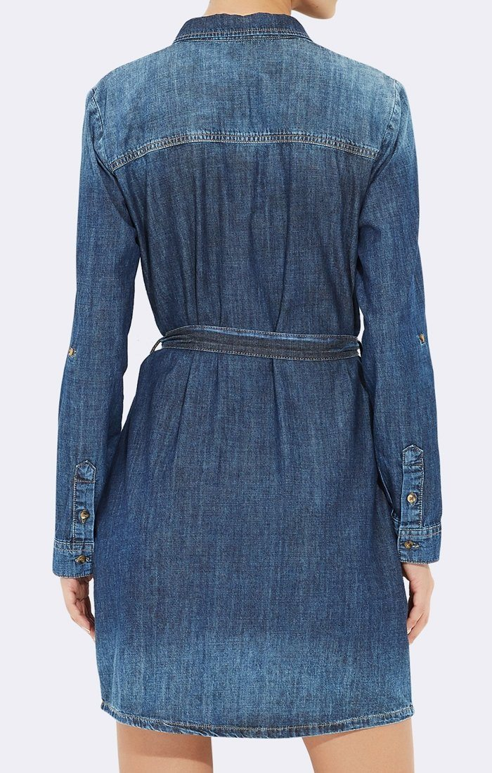 DENIM TIE DRESS - Mavi Jeans