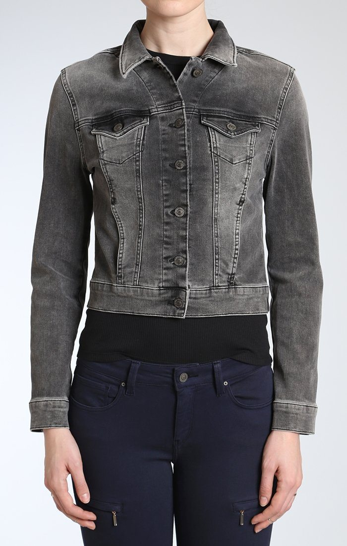 SAMANTHA JACKET IN SMOKE VINTAGE - Mavi Jeans