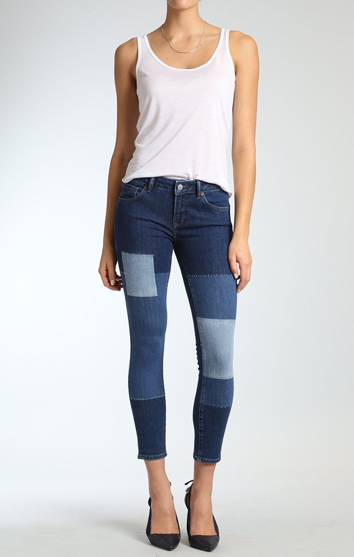 ADRIANA ANKLE SUPER SKINNY IN BLOCKING INDIGO ICON - Mavi Jeans