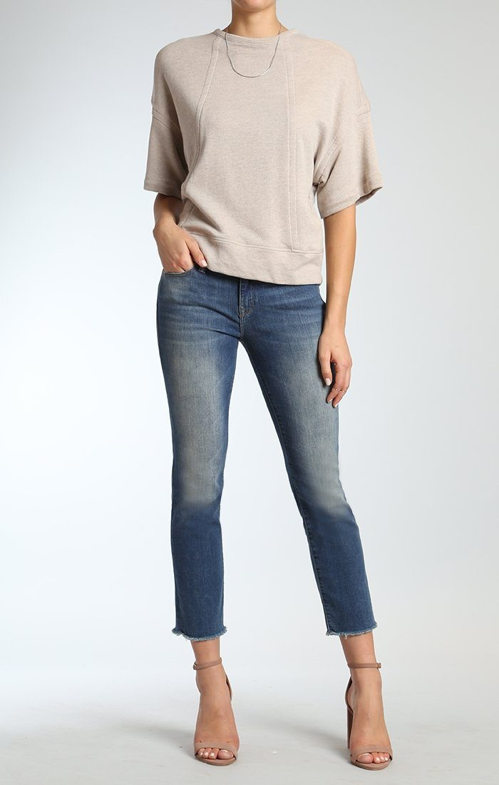 KERRY ANKLE STRAIGHT LEG  IN SHADED RIPPED VINTAGE - Mavi Jeans