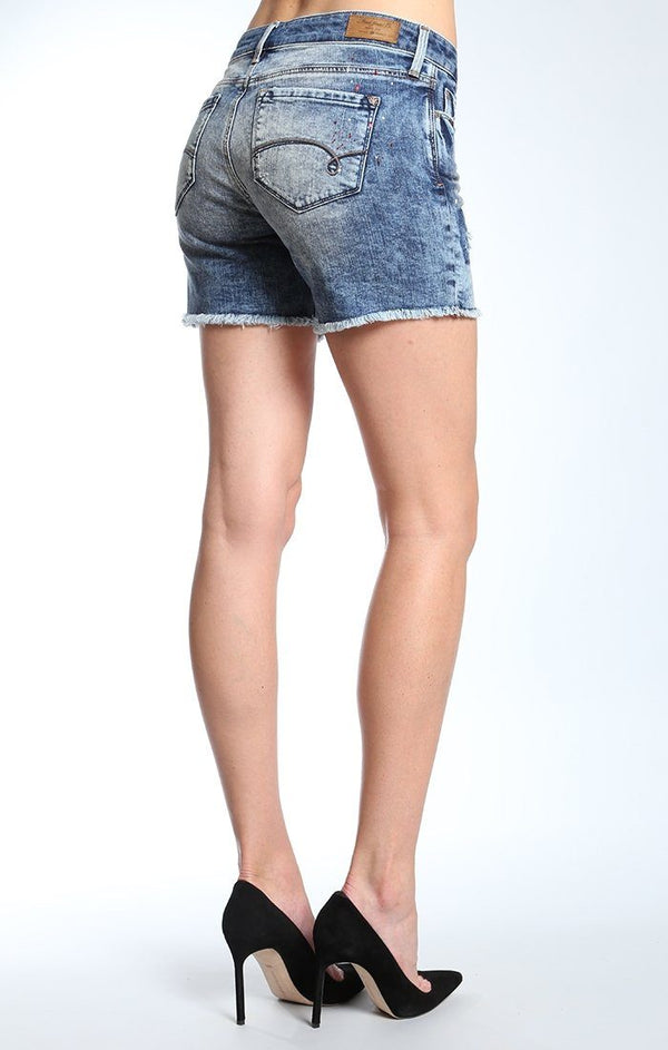 PIXIE SHORTS IN USED PATCH OUT VINTAGE - Mavi Jeans