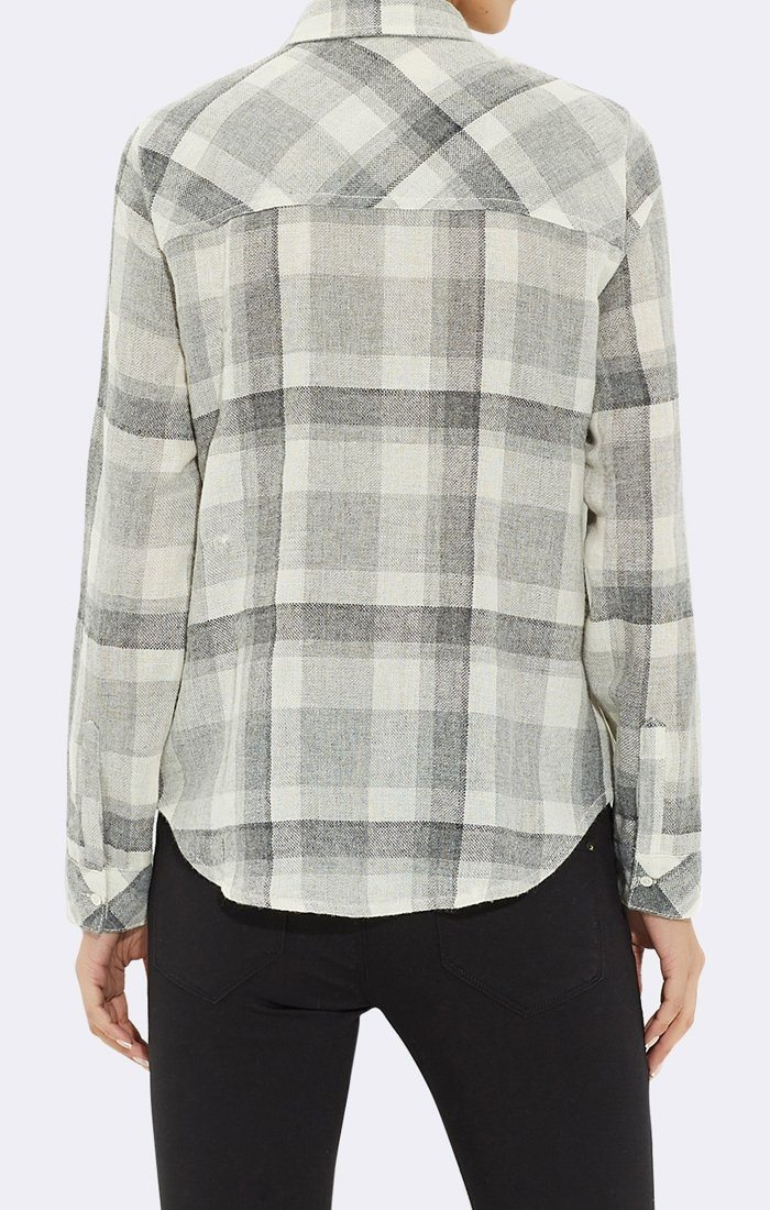 GREY PLAID SHIRT - Mavi Jeans