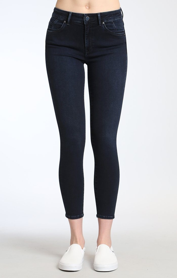 TESS SUPER SKINNY IN INK BRUSHED INDIGO MOVE