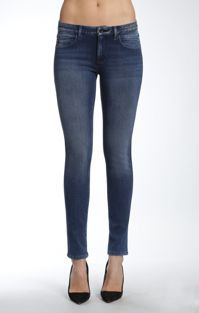 ADRIANA SUPER SKINNY IN MID BRUSHED MOVE - Mavi Jeans