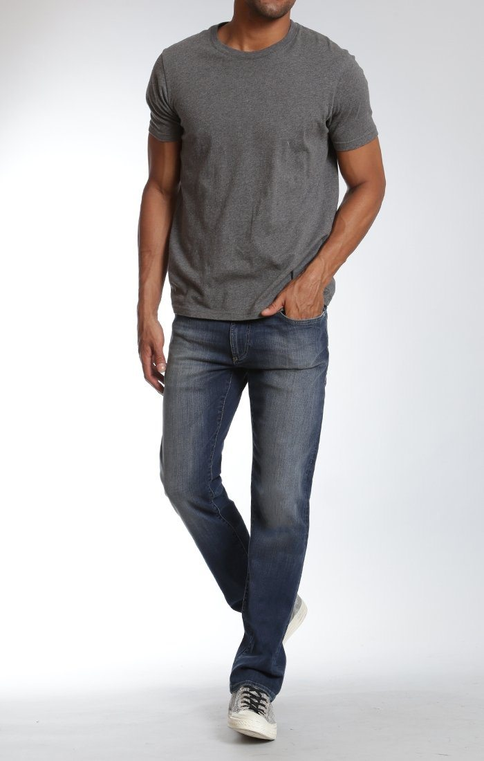 ZACH STRAIGHT LEG IN MID ULTRA MOVE WHITE EDGE - Mavi Jeans