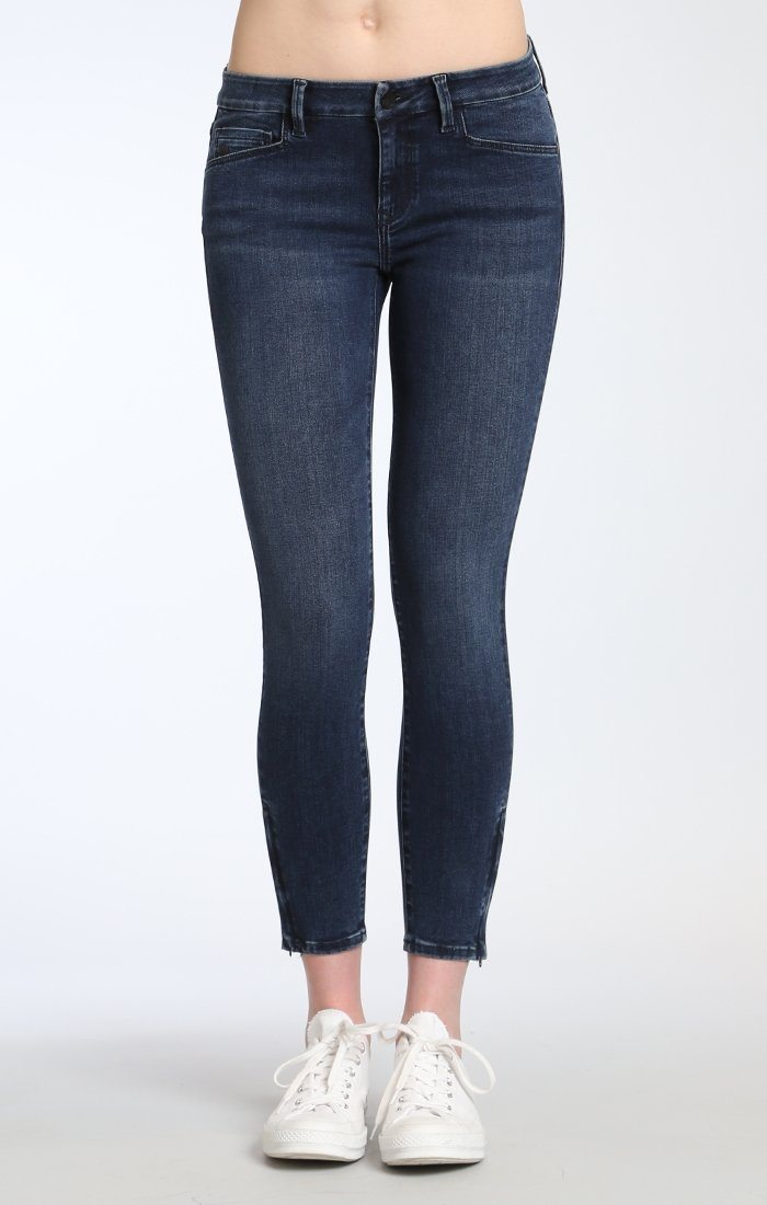 ADRIANA ANKLE ZIP ZIP  SKINNY IN MIDNIGHT INDIGO M