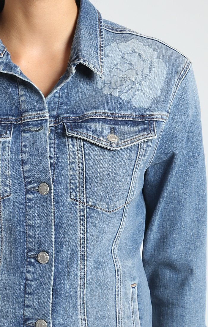 KAYLEE DENIM JACKET IN ROSE ICON - Mavi Jeans