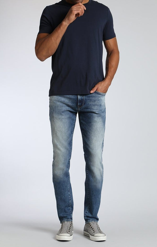 JAMES SKINNY IN MID PATCHED RIPPED - Mavi Jeans