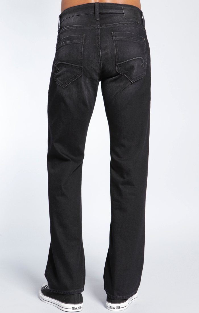 JOSH BOOTCUT IN BLACK BRUSHED YALETOWN - Mavi Jeans