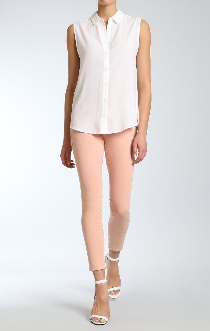 SERENA ANKLE SUPER SKINNY  IN PASTEL PEACH