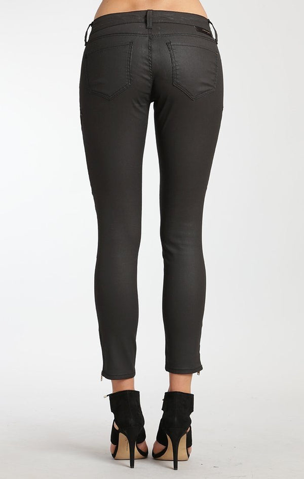 VICTORIA ZIP SKINNY IN BLACK GOLD JEATHER - Mavi Jeans