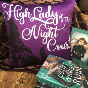High Lady of the Night Court Pillow - A Court of Thorns and Roses
