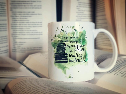 Proper Reading Materials Mug - Throne of Glass