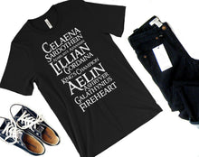 Fireheart Names Shirt-- Throne of Glass