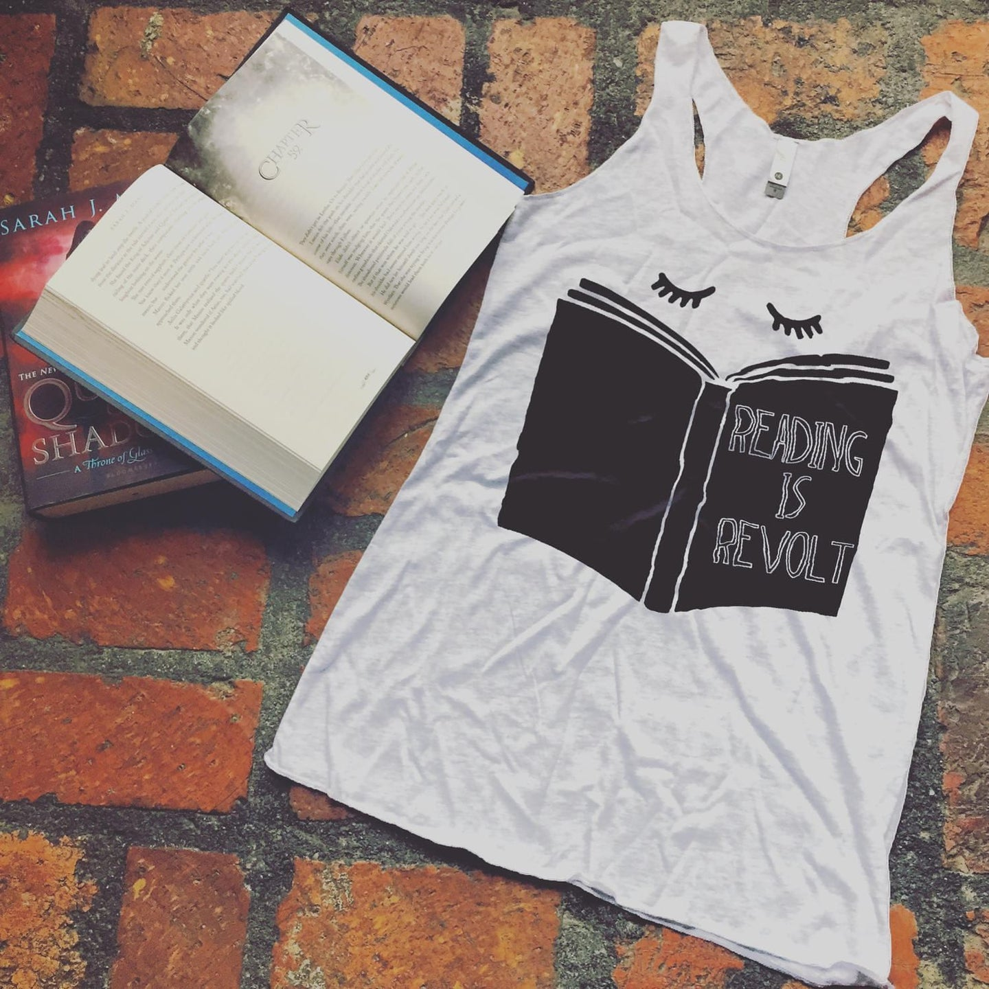 Reading is Revolt Racerback Tank Top-- Readers for Change