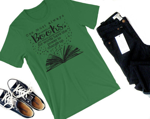Careful of Books Shirt-- Infernal Devices