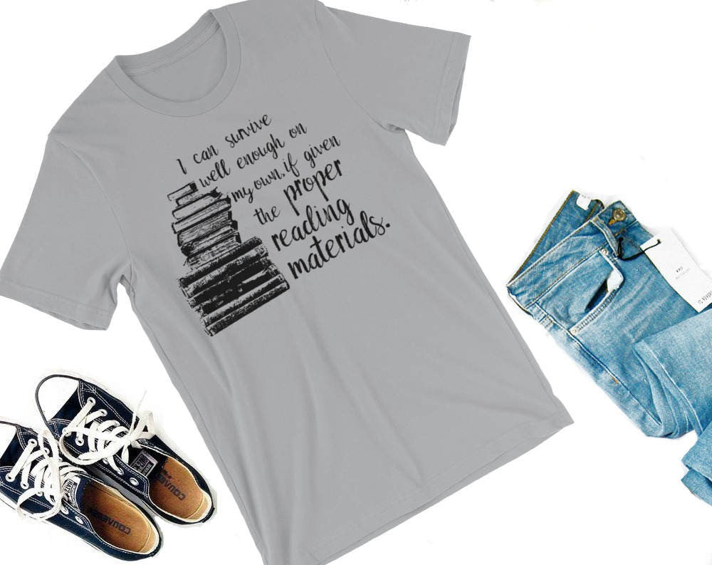 Proper Reading Materials Shirt-- Throne of Glass