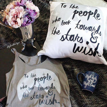 Look Towards the Stars and Wish Throw Pillow- A Court of Mist and Fury