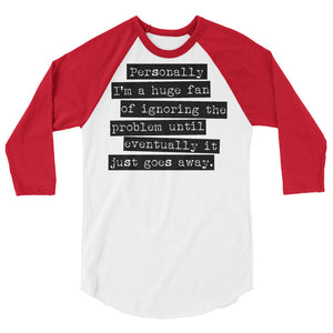Ignoring The Problem Raglan- Teen Wolf
