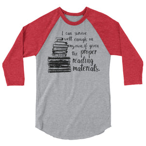 Proper Reading Materials Raglan-- Throne of Glass
