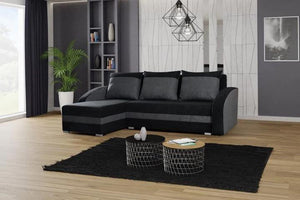 CORNER SOFA BED VIVA BLACK / GREY 236cm, CORNER SOFA BEDS, Anna Furniture, Anna Furniture  - Anna Furniture