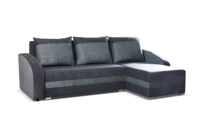 CORNER SOFA BED VIVA DARK GREY / GREY 236cm, CORNER SOFA BEDS, Anna Furniture, Anna Furniture  - Anna Furniture