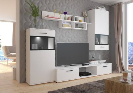 TV WALL UNIT MAXI White, , Anna Furniture, Anna Furniture  - Anna Furniture
