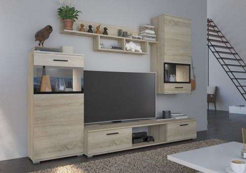 TV WALL UNIT MAXI Sonoma, , Anna Furniture, Anna Furniture  - Anna Furniture