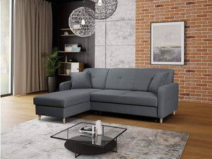 CORNER SOFA BED MILLI GREY 220cm, CORNER SOFA BEDS, Anna Furniture, Anna Furniture  - Anna Furniture