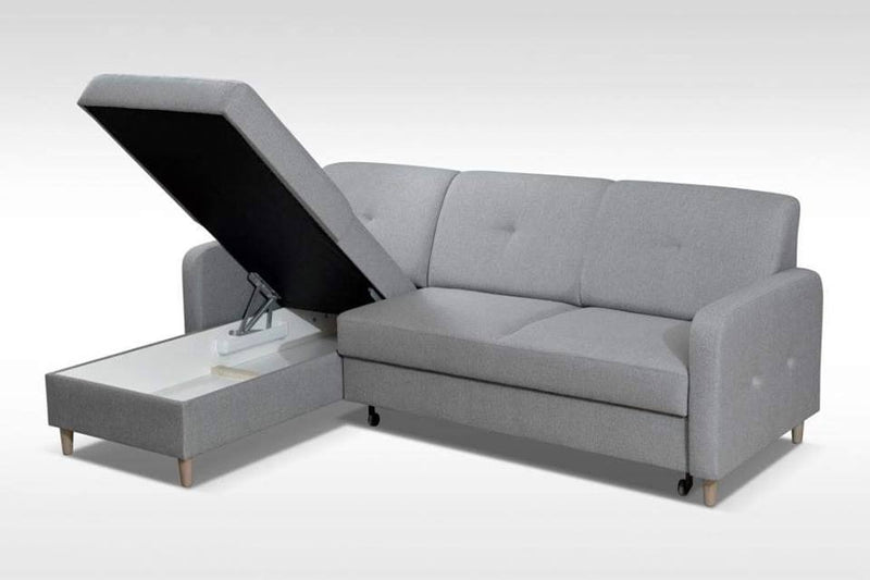 CORNER SOFA BED MILLI BROWN 220cm, CORNER SOFA BEDS, Anna Furniture, Anna Furniture  - Anna Furniture