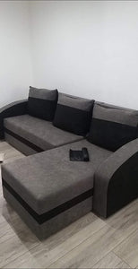 CORNER SOFA BED VIVA GREY BLACK 236cm, CORNER SOFA BEDS, Anna Furniture, Anna Furniture  - Anna Furniture