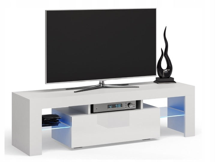 TV STAND DACO WHITE GLOSS FRONTS 140CM, RTV, Anna Furniture, Anna Furniture  - Anna Furniture