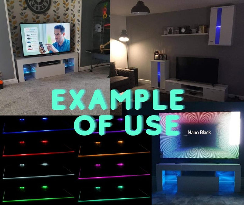 2x RGB LED clips for glass shelves (16 colors remote control LED lights), , Anna Furniture, Anna Furniture  - Anna Furniture