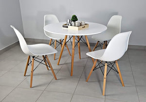 Round dining table set with 4 chairs, , Anna Furniture, Anna Furniture  - Anna Furniture
