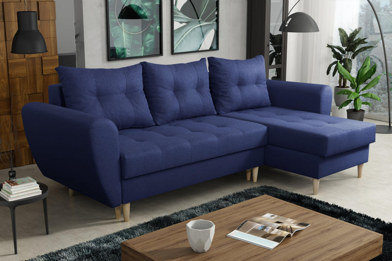 CORNER SOFA BED PALMO BLUE 240cm universal - Anna Furniture