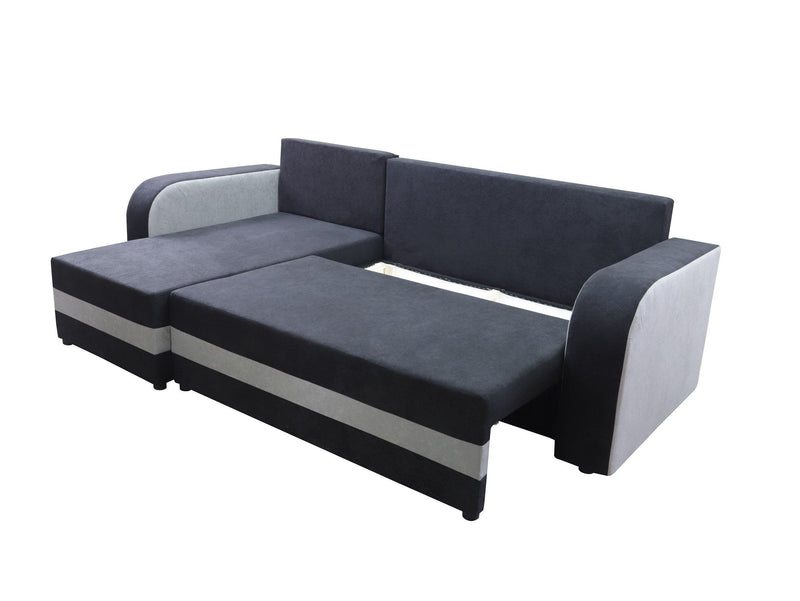 CORNER SOFA BED ALEXA BLCK / RED 238cm universal - Anna Furniture