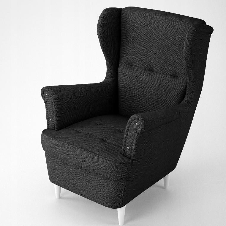 BLACK ARMCHAIR TOM - Anna Furniture