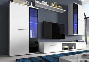 TV WALL UNIT SALSA WHITE MATTE, TV WALL UNITS, SALSA, Anna Furniture  - Anna Furniture