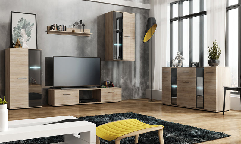 TV WALL UNIT SALSA SET WITH SIDEBOARD SONOMA, TV WALL UNITS, SALSA, Anna Furniture  - Anna Furniture