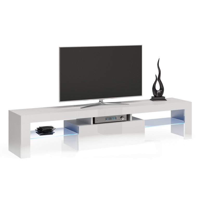 TV STAND DACO WHITE GLOSS FRONTS 160CM - Anna Furniture