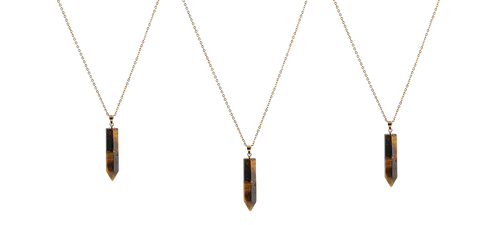 Mens crystal necklace