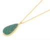 Amazonite gold chain necklace