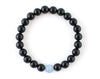 Aquamarine and black onyx couple bracelets