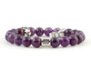 Aquarius amethyst bracelet with star and moon beads