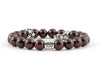 Aquarius zodiac sign bracelet with garnet beads