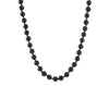 Black lava rock men's necklace