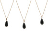 Black onyx chain necklace
