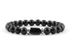 Black tourmaline beaded bracelet with onyx beads